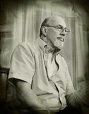 Senior Man Thinking-Vintage Style Portrait Royalty Free Stock Image
