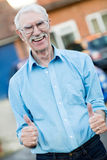 Senior man with thumbs up Royalty Free Stock Image
