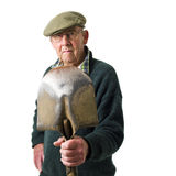 Senior man with tool Royalty Free Stock Photography