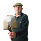 Senior man with tool Stock Images