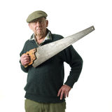 Senior man with tool Royalty Free Stock Photos