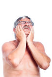 Senior man toothache Royalty Free Stock Photos