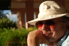 Senior Man Tourist Royalty Free Stock Photos
