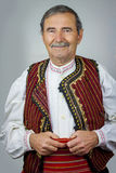 Senior man in traditional clothing from Macedonia Royalty Free Stock Image