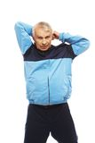 Senior man in training suit Royalty Free Stock Photo