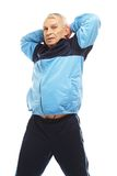 Senior man in training suit Royalty Free Stock Images