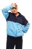 Senior man in training suit Royalty Free Stock Photography