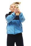 Senior man in training suit Royalty Free Stock Photos