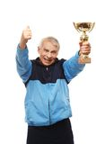 Senior man in training suit Stock Photography