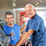 Senior man on treadmill Stock Photography