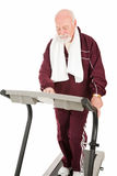 Senior man on Treadmill Royalty Free Stock Image