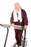 Senior man on Treadmill Royalty Free Stock Image