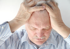 Senior man upset Stock Images
