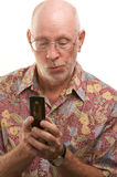 Senior Man Using Cell Phone Royalty Free Stock Photo