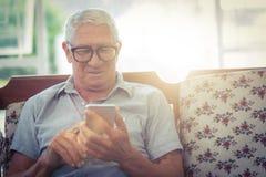 Senior man using mobile phone Royalty Free Stock Image