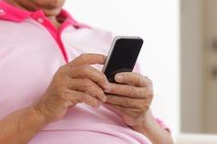 Senior man using phone Royalty Free Stock Photo