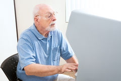 Senior Man Voting Stock Image