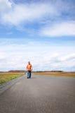 Senior man walking Stock Images