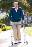 Senior Man With Walking Frame Royalty Free Stock Images
