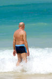 Senior man in water Royalty Free Stock Photography