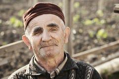 Senior man wearing cap royalty free stock photos