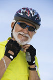 Senior Man Wearing Helmet Royalty Free Stock Photo