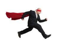 Senior man wearing like superhero Royalty Free Stock Photos