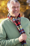 Senior Man Wearing Scarf Royalty Free Stock Photos