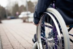 Senior Man In Wheelchair Stock Photos