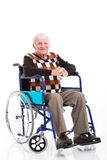 Senior man wheelchair royalty free stock photography