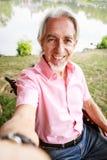 Senior Man In Wheelchair stock images
