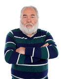 Senior man with white beard crossing his arms Stock Image