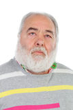Senior man with white beard lookin up Stock Images