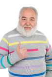 Senior man with white beard saying Ok with his hand Stock Images