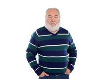 Senior man with white beard smiling Royalty Free Stock Photo