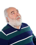 Senior man with white beard thinking Stock Image