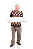 Senior man white board Royalty Free Stock Photo