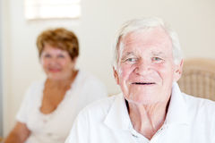 Senior man and wife Stock Images