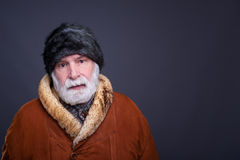 Senior man in winter outfit Stock Photo