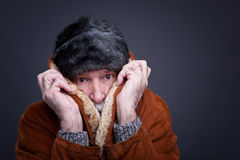 Senior man in winter outfit. Stock Photography