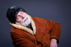Senior man in winter outfit. Royalty Free Stock Image
