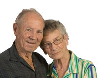 Senior man and woman Stock Images