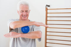 Senior man working out Stock Images