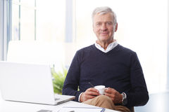 Senior man working Stock Image