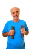Senior man workout Royalty Free Stock Image