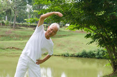 Senior man workout in the park Royalty Free Stock Images