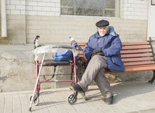 A senior man Stock Images