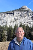 Senior Man at Yosemite National Park California Stock Image