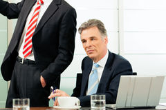 Senior Manager or boss in meeting Stock Images