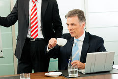Senior Manager or boss in meeting Stock Photo